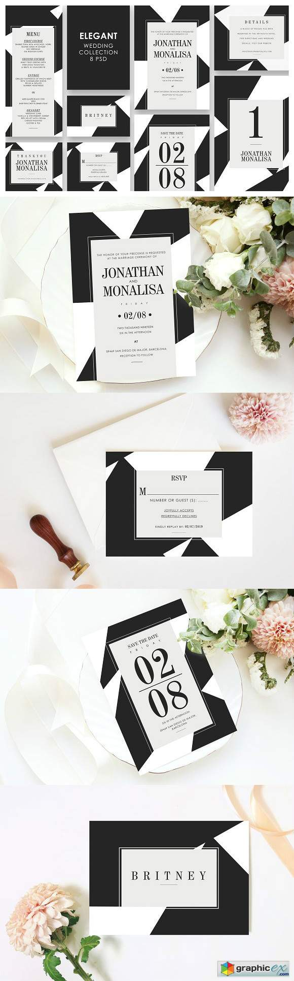 Elegant Wedding Invitation Set 3303795