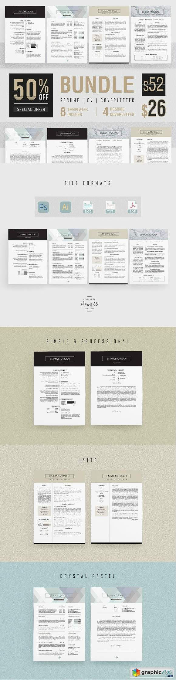 Professiona Resume BUNDLE Template M
