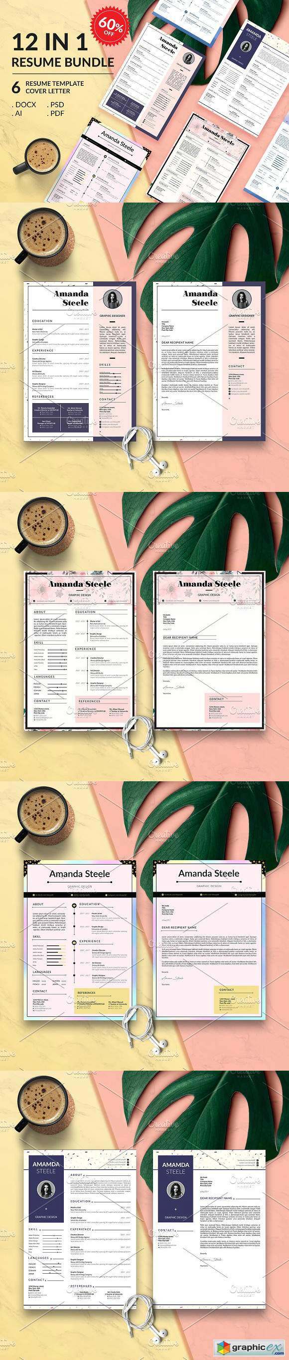 Simple Resume BUNDLE Template N