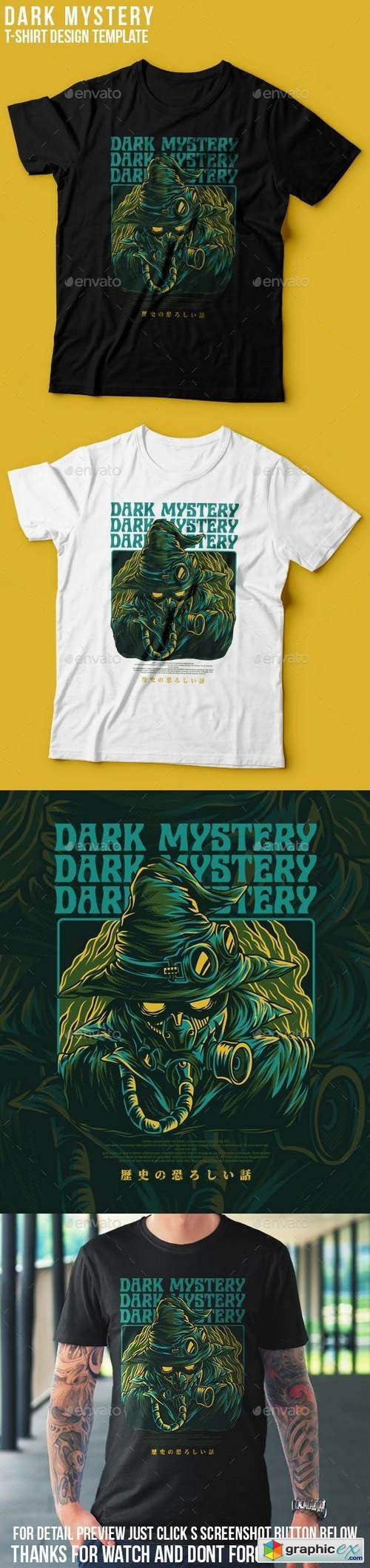 Dark Mystery T-Shirt Design