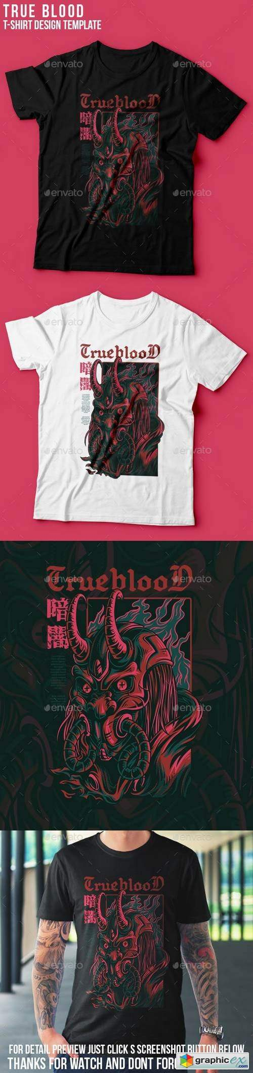 True Blood T-Shirt Design
