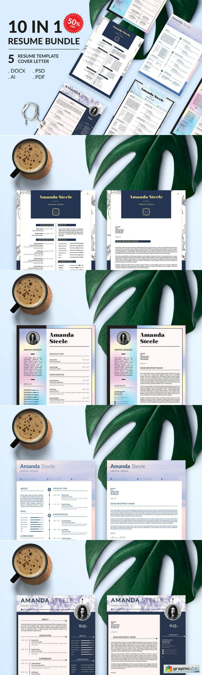 Simple Resume BUNDLE Template N 3338220