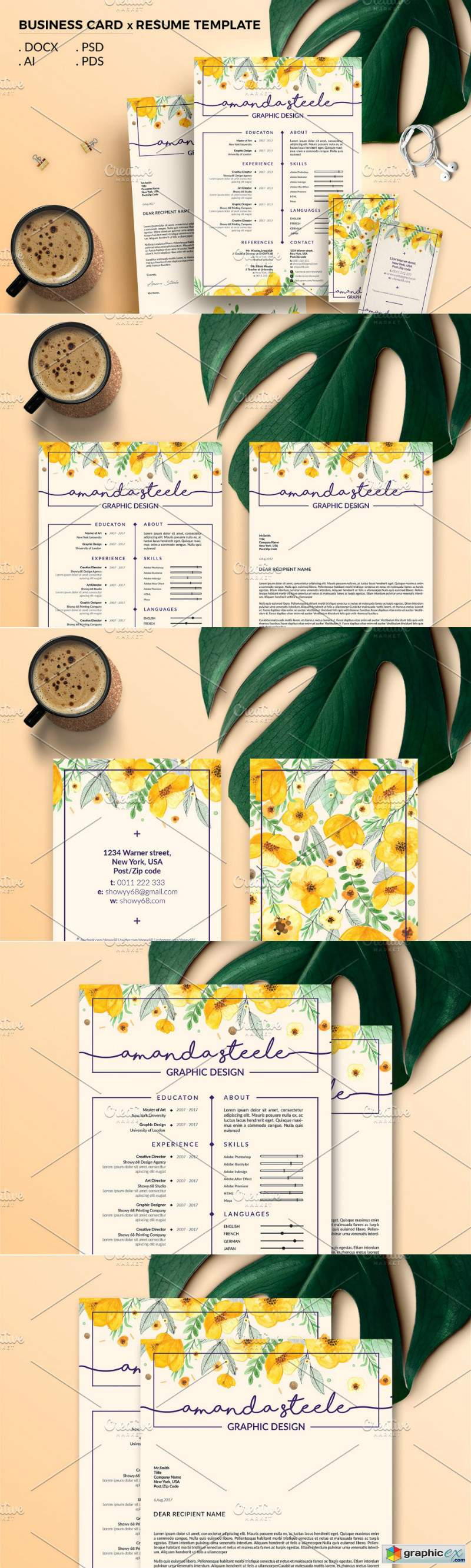 Pack Resume and Card Template N