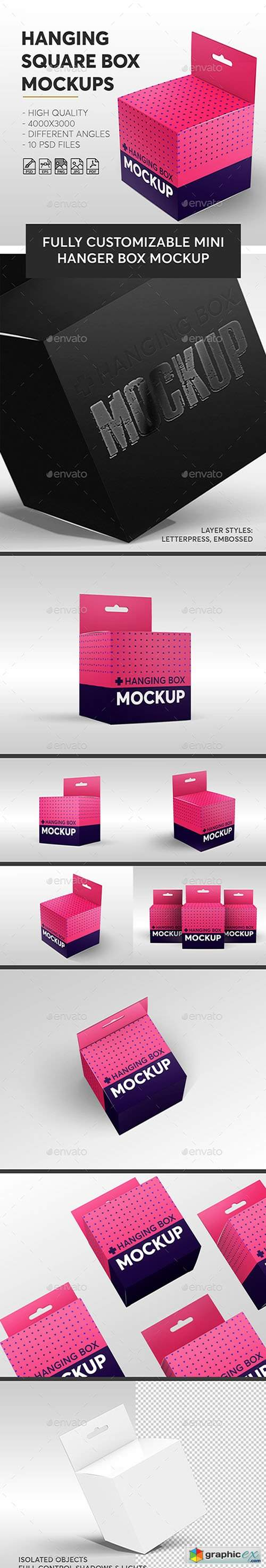 Hanging Square Box Mockups V.1 | Miscellaneous