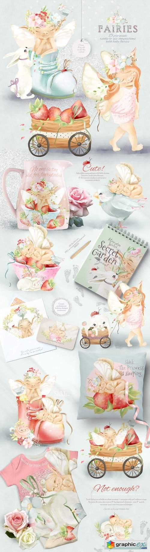 Baby Fairies Clipart Collection