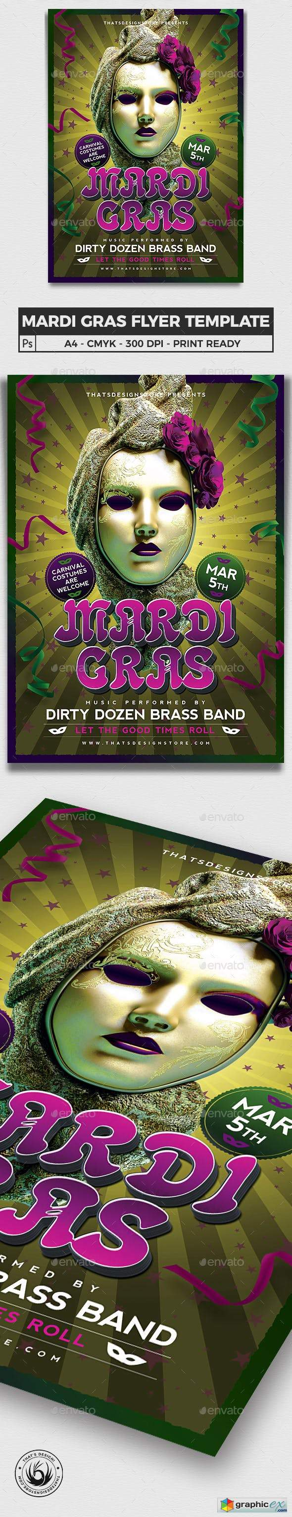 Mardi Gras Flyer Template V2