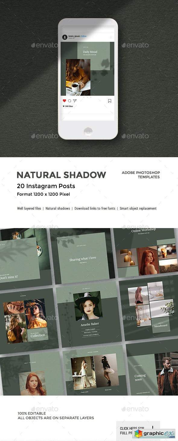 Natural Shadow - Instagram Pack