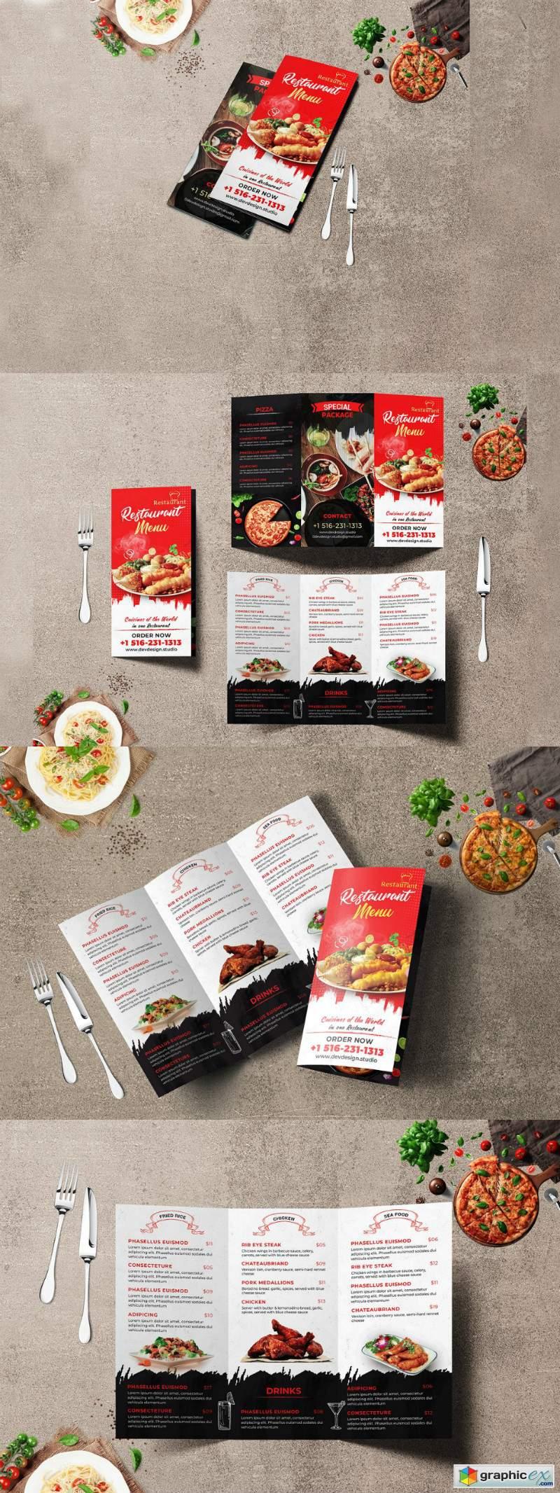 Modern Restaurant Trifold Brochure