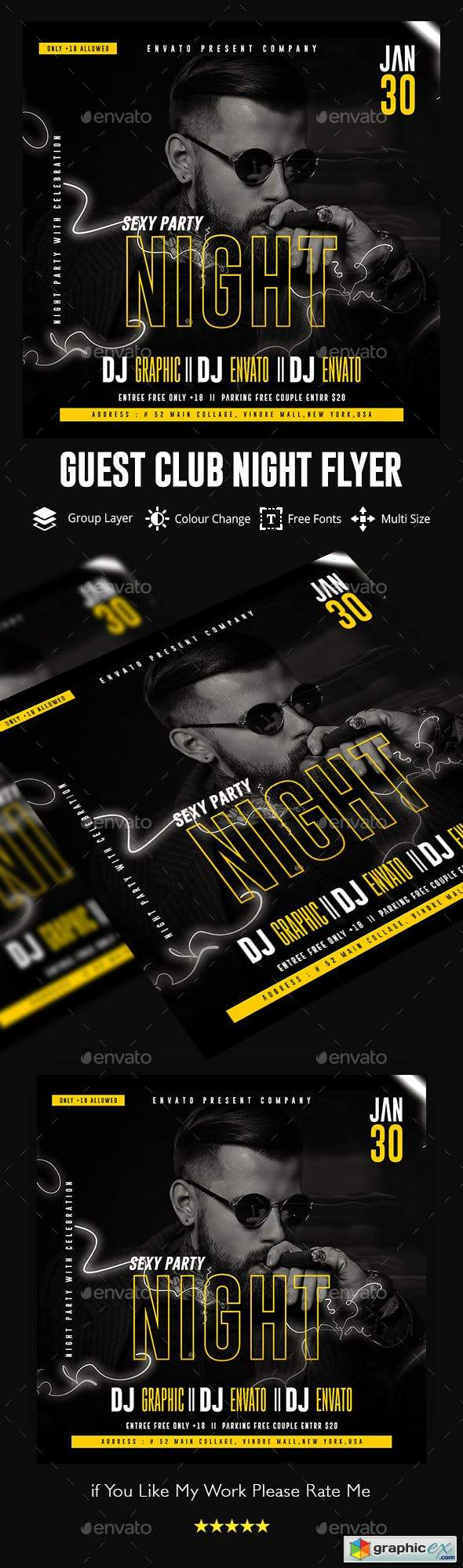 Guest Dj Night Flyer Template 23126639