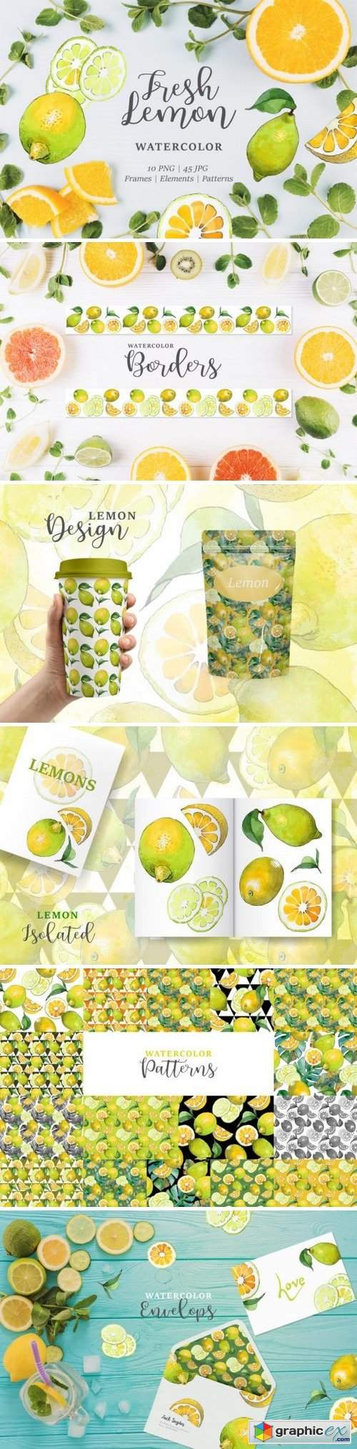 Lemon Watercolor png