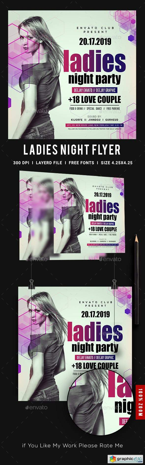 Ladies Night Club Flyer 23139277