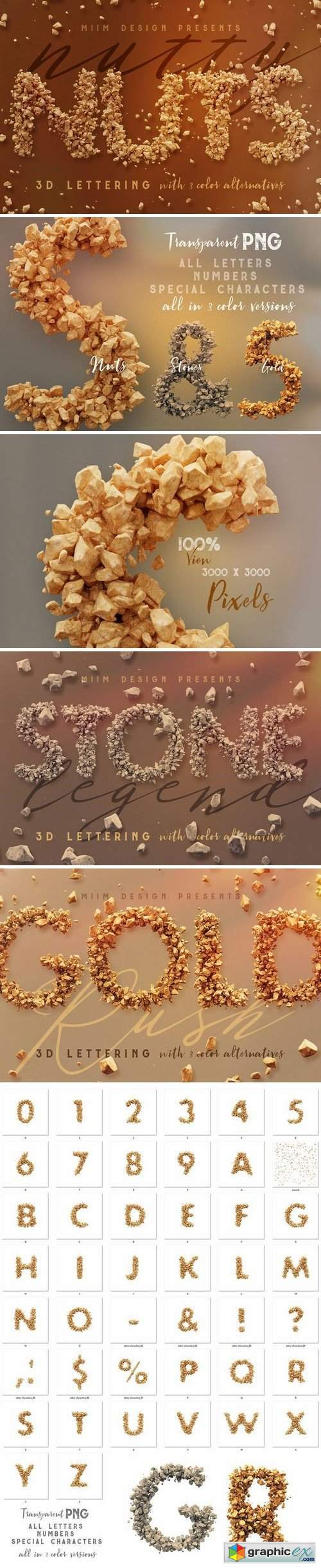Nutty Nuts - 3D Lettering