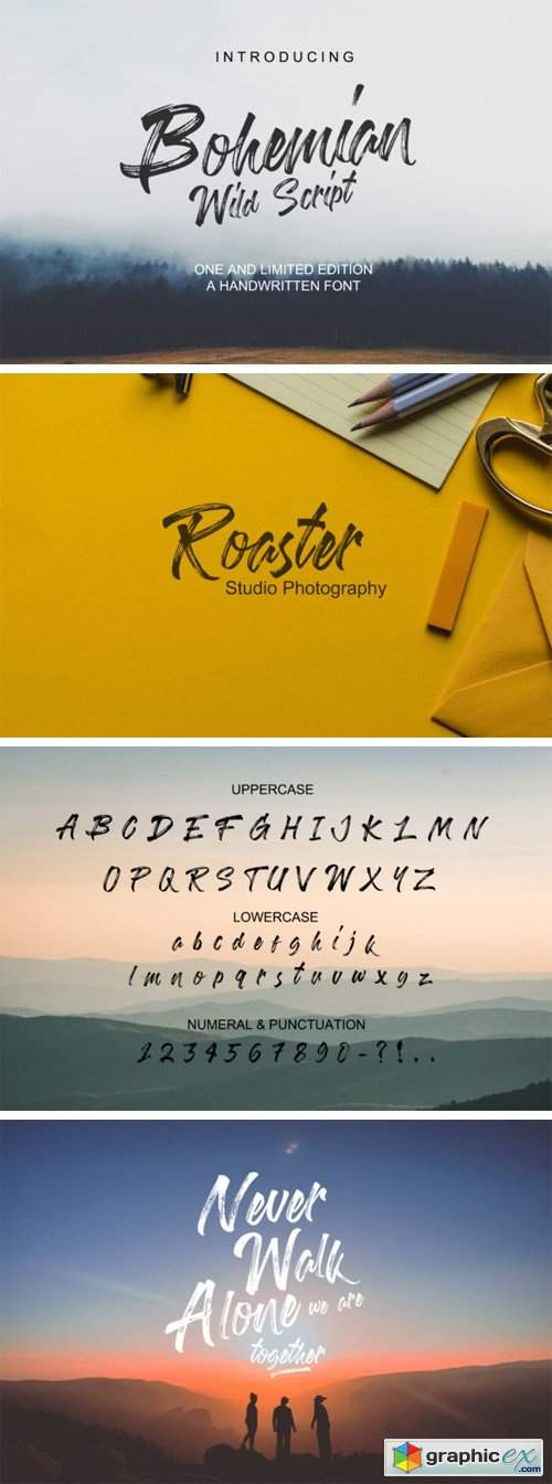 bohemian wild script font  u00bb free download vector stock image photoshop icon