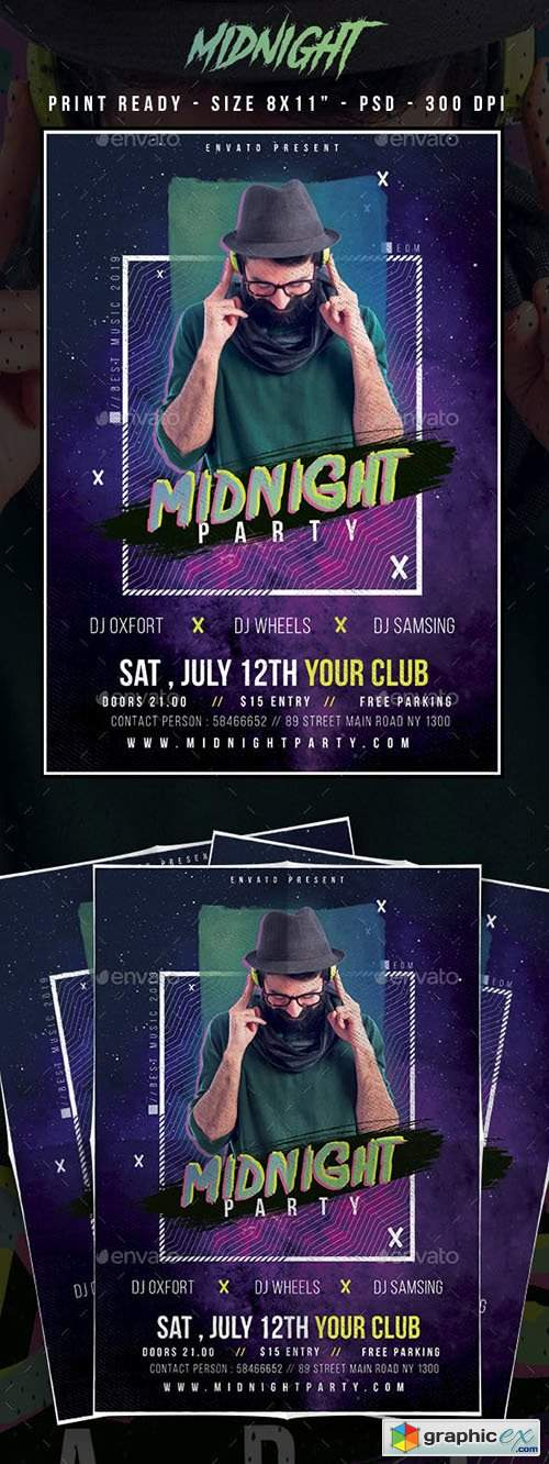 MidNight Club Party Flyer