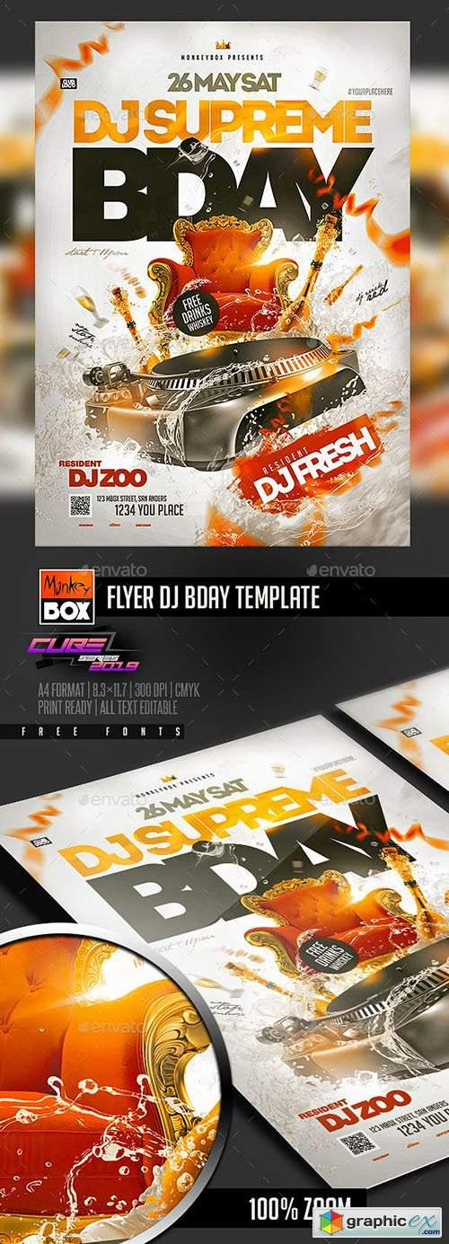 Flyer Dj Bday Template