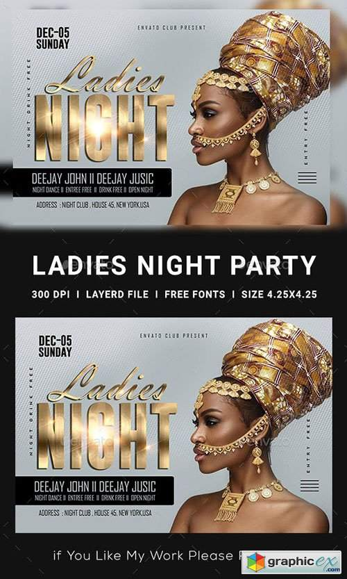 Ladies Night Club Flyer 23152761