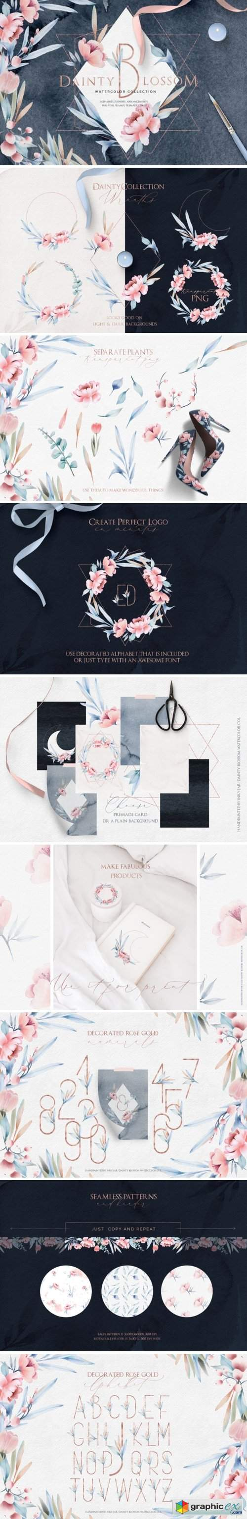 Fine Art Watercolor Collection | Dainty Blossom