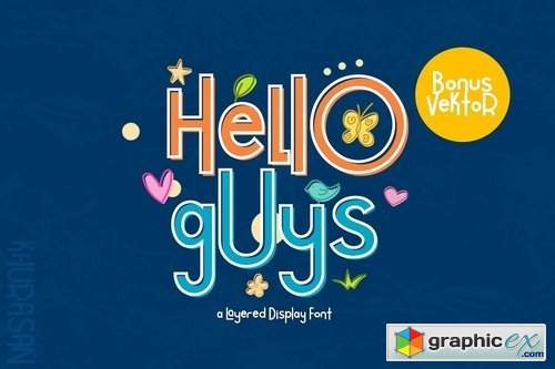 Hello Guys Layered Font