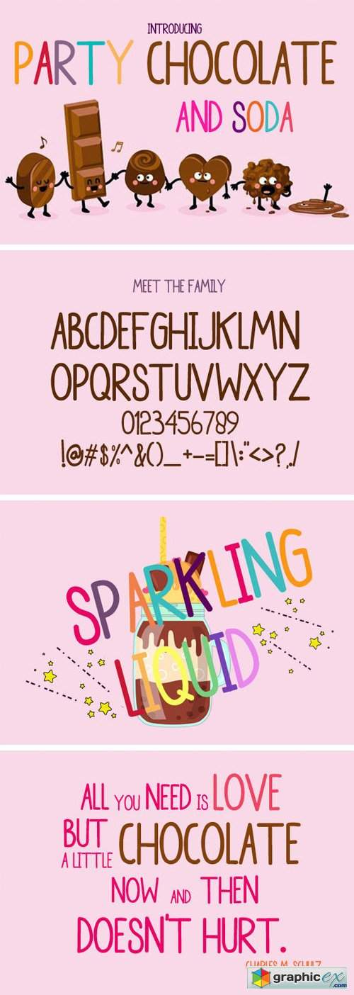 Party Chocolate and Soda Font