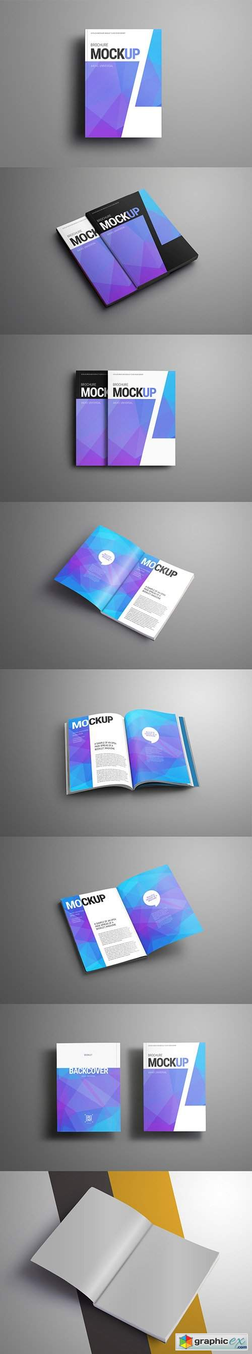 Magazine/Brochure 7 Layout Mockup Set 194658258