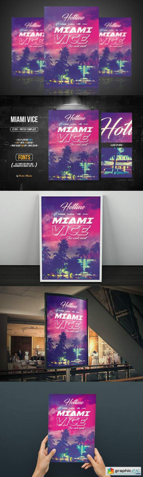 Miami Vice - Flyer Poster