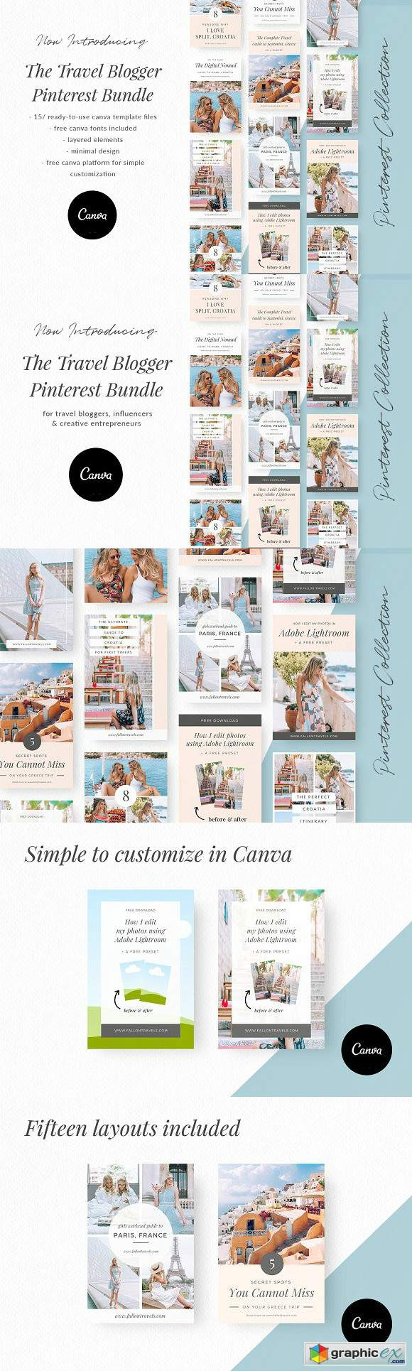 Travel Blogger Pinterest Bundle