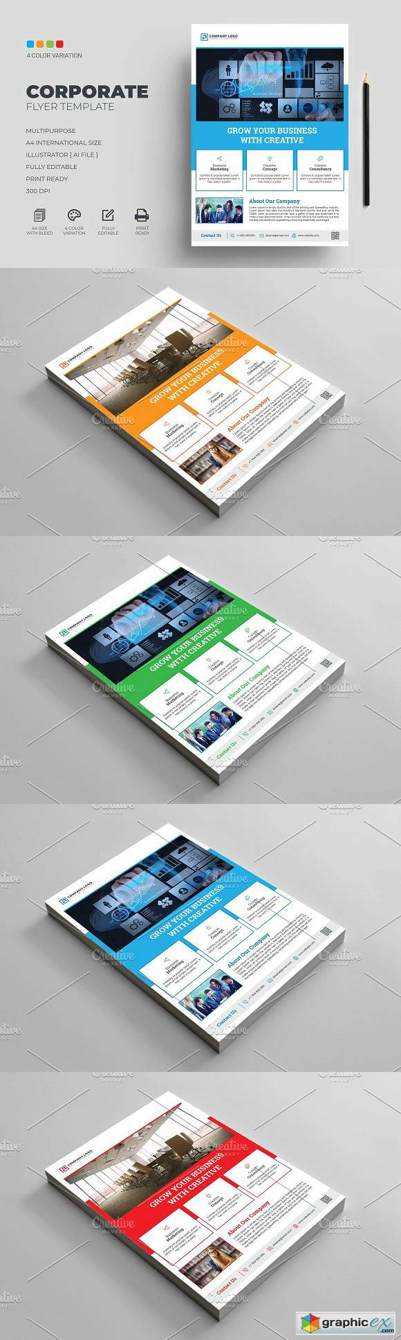Corporate Flyer Template 3075822