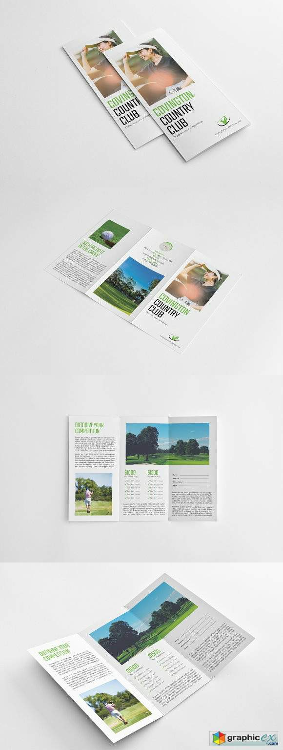 Golf Event Tri-fold Brochure