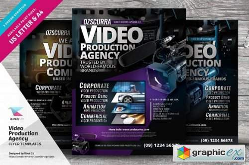 Video Production Agency Flyers