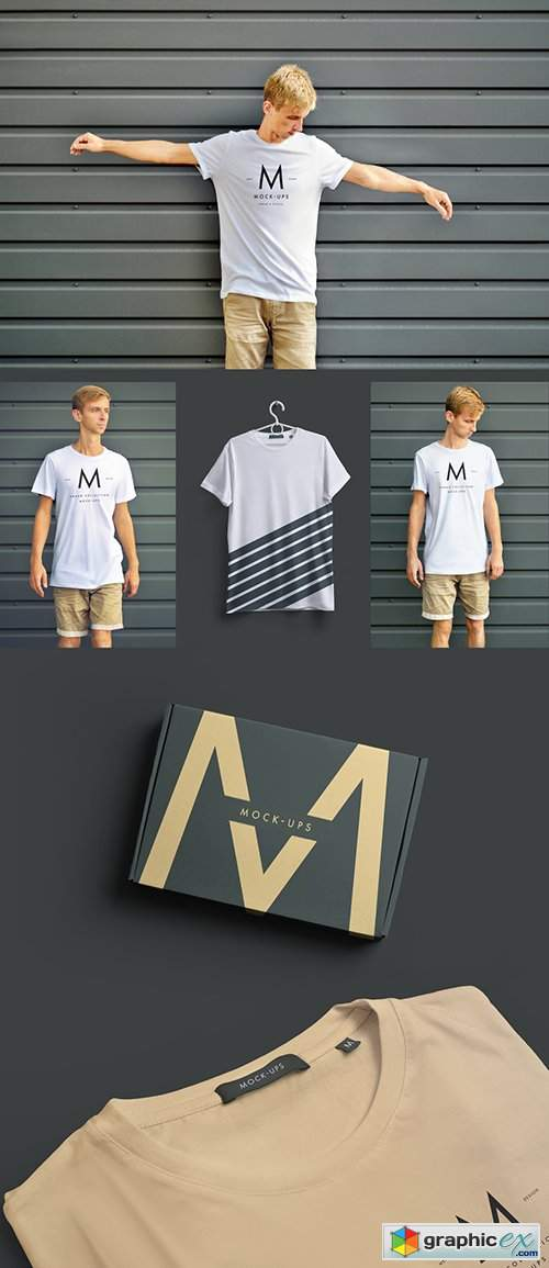 T-Shirt Mockup with Multiple Views