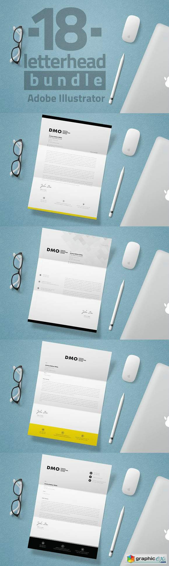 18 Letterhead Bundle