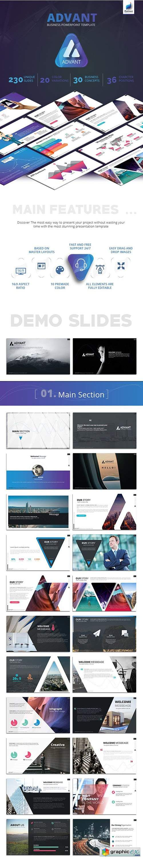 Advant Business PowerPoint Template