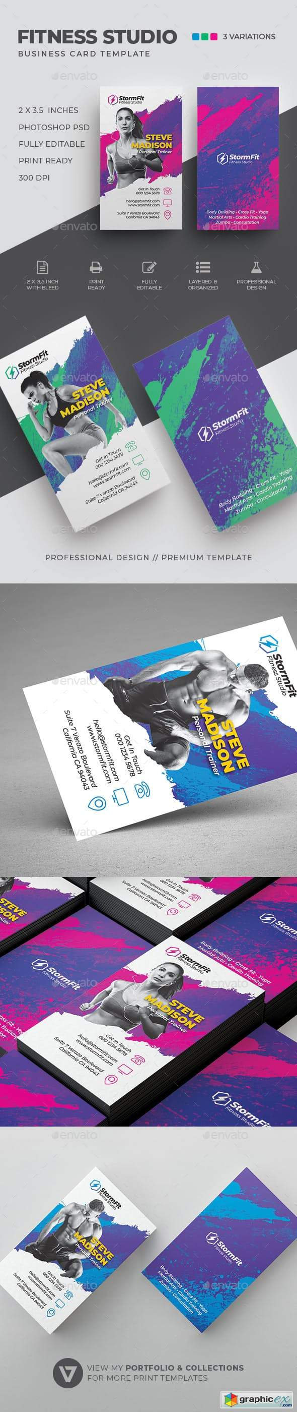 Fitness Business Card 23134321