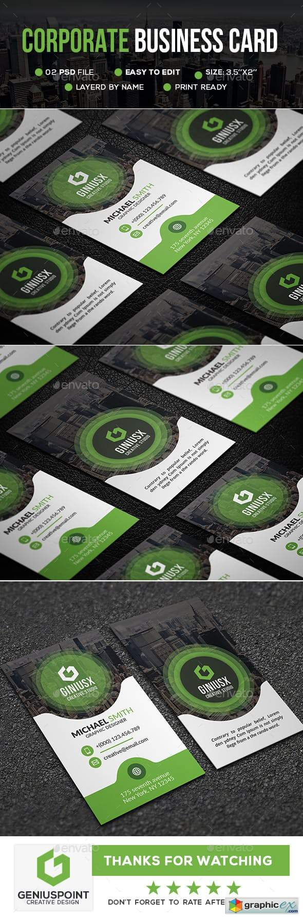 Corporate Business Card 23154587