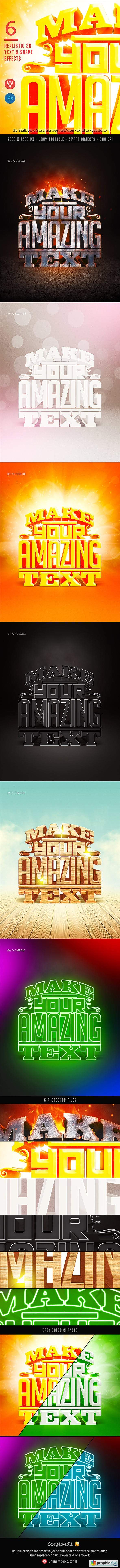 6 Realistic 3D Text Effects