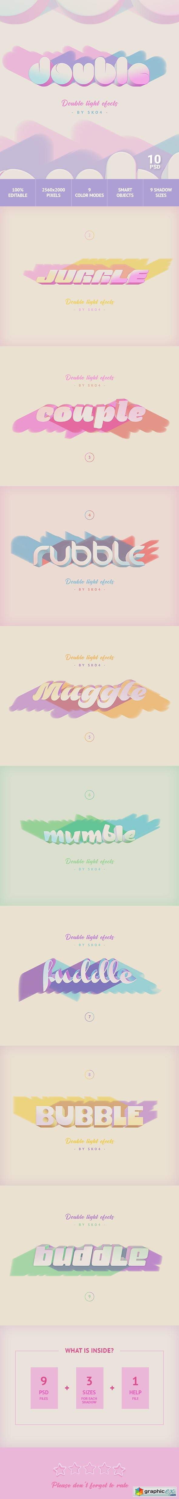 3D Text with Color Shadows