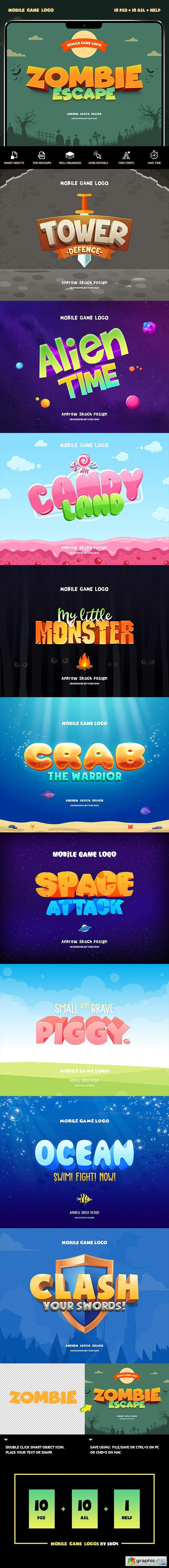 Mobile Game Text Effects vol 1 » Free Download Vector Stock