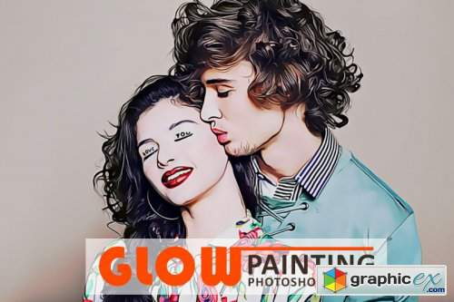Glow Painting Photoshop Action