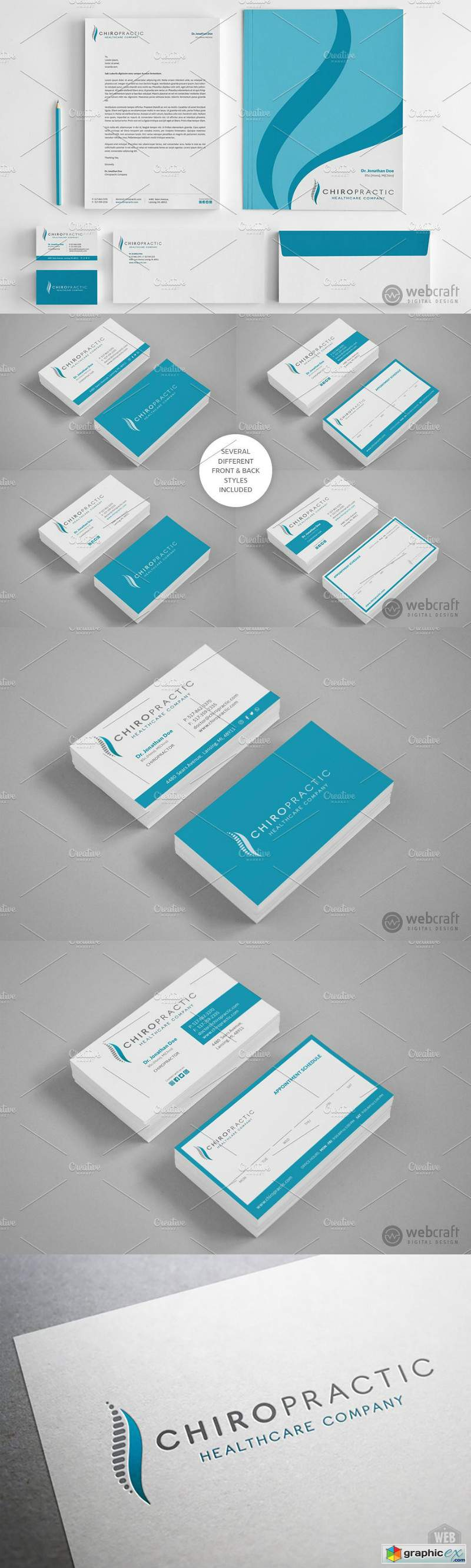 Chiropractic Logo Stationery