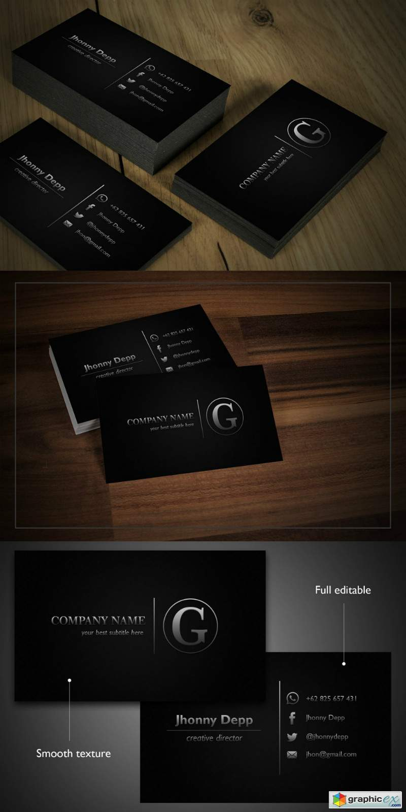 Shiver business cards