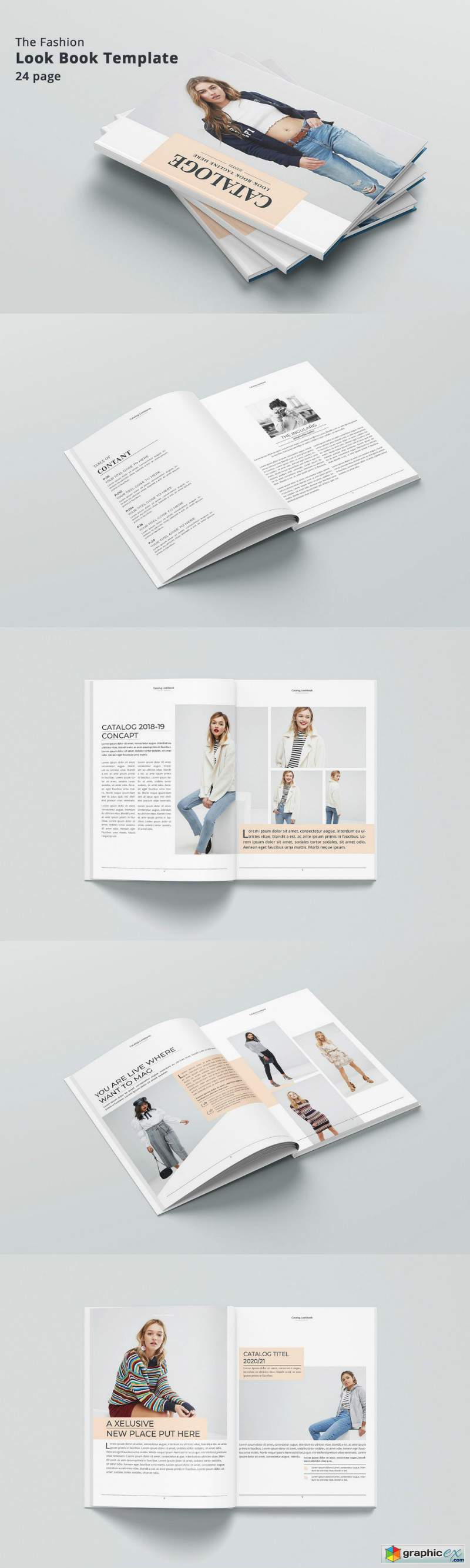Fashion Catalog Lookbook » Free Download Vector Stock Image
