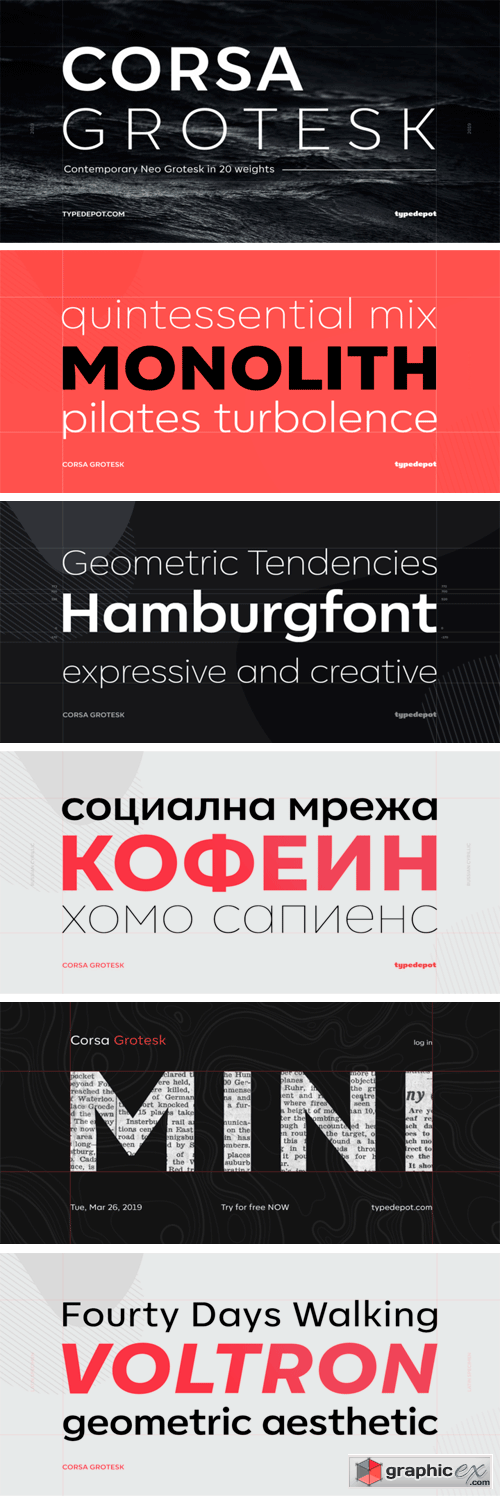 Corsa Grotesk Font Family » Free Download Vector Stock Image