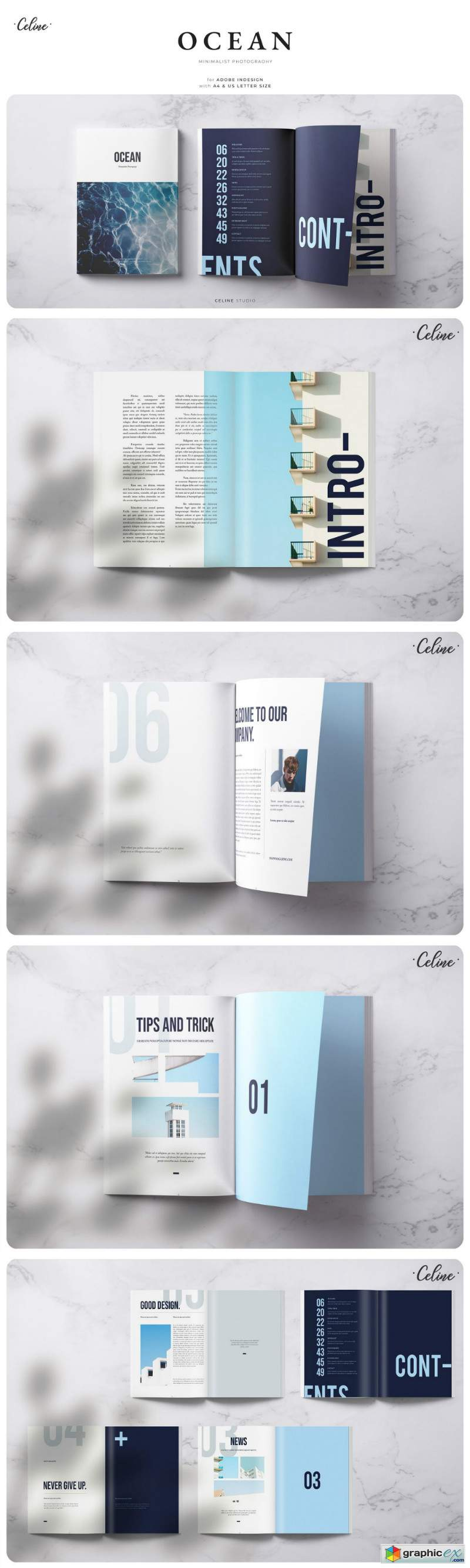 OCEAN Lookbook & Magazine Template
