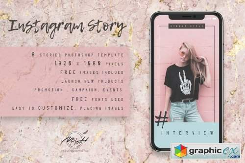 Pastel Blogger Instagram Stories Template