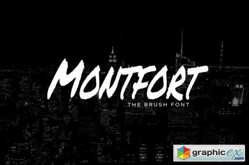 MONTFORT - Custom Handmade Brush Font
