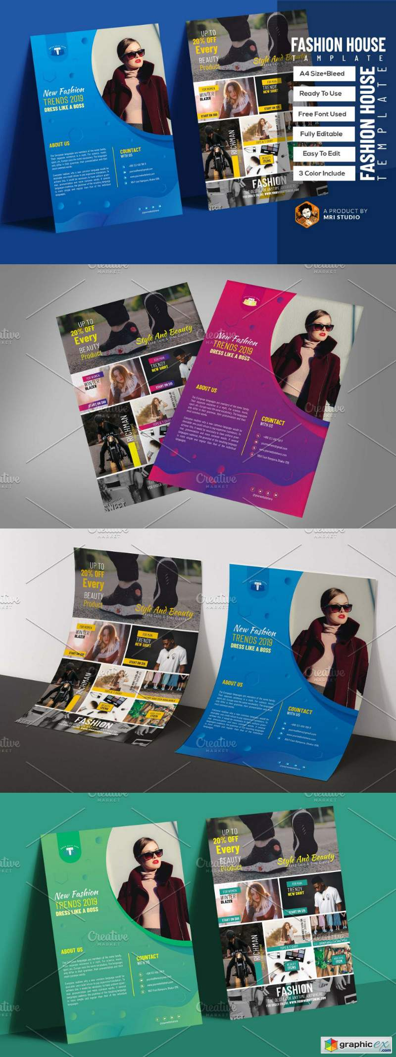 Fashion House Flyer Template