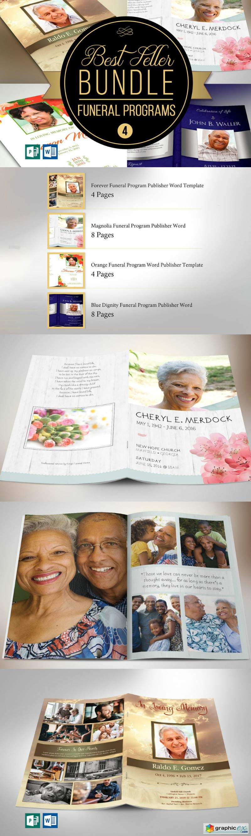 Best Seller Funeral Program Bundle