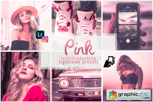 Pink presets mobile instagram pc filter rose effects vsco