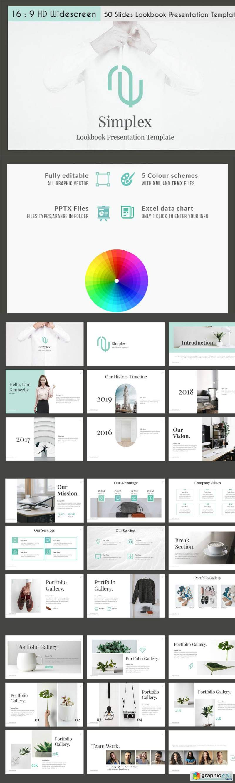 Simplex - Lookbook PPTX Template