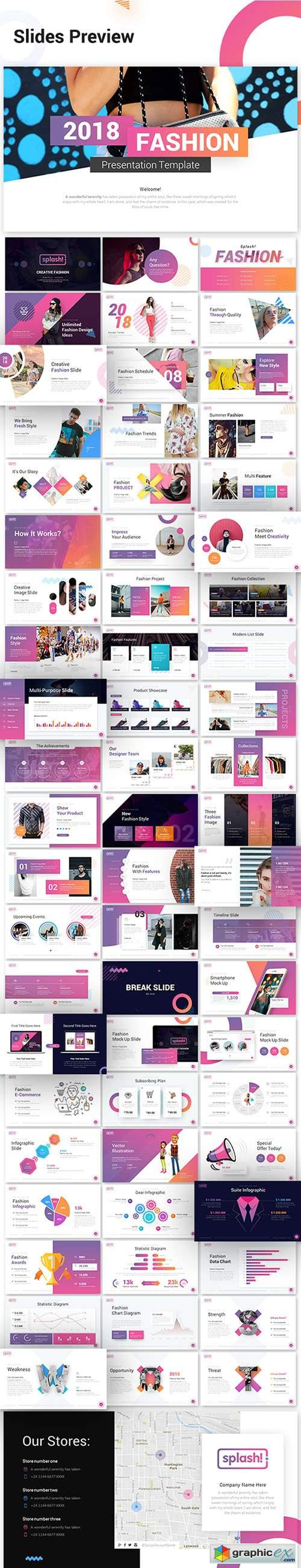 Splash Fashion PowerPoint Presentation Template